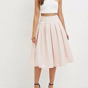 Forever 21 Light Pink Pleated Skirt